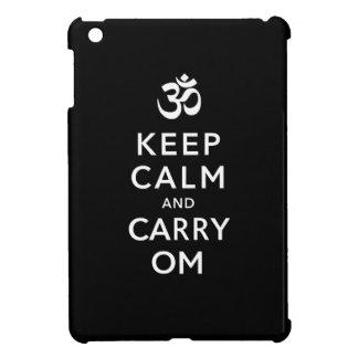 Keep Calm and Carry Om Black iPad Mini Case
