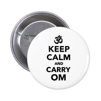 Keep calm and carry om button