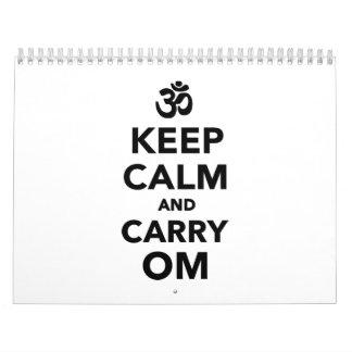 Keep calm and carry om calendar