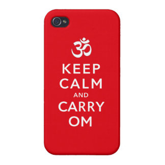 Keep Calm and Carry Om iPhone 4 case