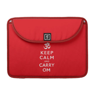 "Keep Calm and Carry Om Macbook Pro 13"" Sleeve MacBook Pro Sleeve"