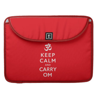 "Keep Calm and Carry Om Macbook Pro 15"" Sleeve Sleeves For MacBooks"