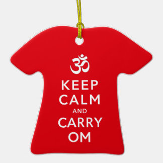 Keep Calm and Carry Om Motivational Morale Christmas Tree Ornament