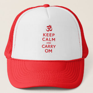Keep Calm and Carry Om Motivational Morale Trucker Hat