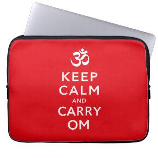 Keep Calm and Carry Om Motivational Neoprene Laptop Sleeve