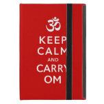 Keep Calm and Carry Om Red iPad Mini Case