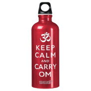 Keep Calm and Carry Om Red Motivational Bottle SIGG Traveler 0.6L Water Bottle at Zazzle