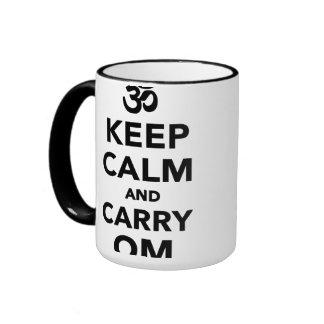 Keep calm and carry om ringer mug