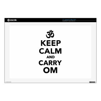 Keep calm and carry om laptop skins