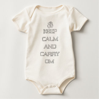 Keep Calm And Carry Om Yoga Gift Baby Bodysuit