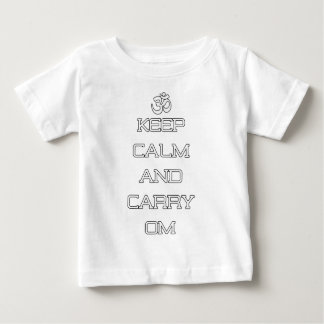 Keep Calm And Carry Om Yoga Gift Baby T-Shirt