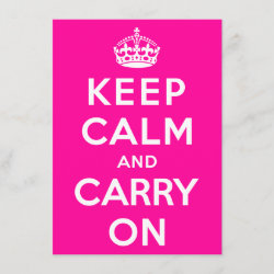 with Keep Calm and Carry On (Magenta) design