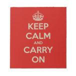 keep-calm-and-carry-on-10613 blocs de papel