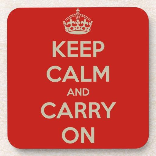 keep-calm-and-carry-on-10613 posavasos de bebidas