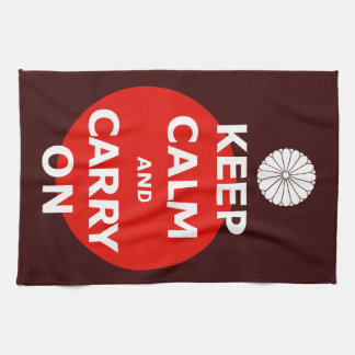 KEEP CALM AND CARRY ON 2 HAND TOWELS