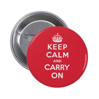 Keep Calm And Carry On 2 Inch Round Button