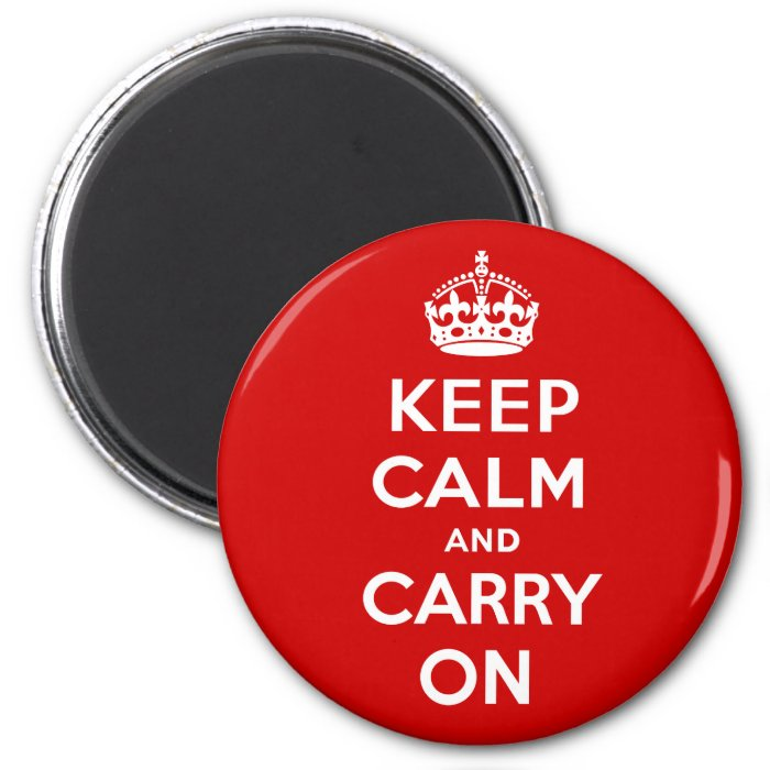 Keep Calm and Carry On 2 Inch Round Magnet