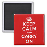 Keep Calm and Carry On 2 Inch Square Magnet