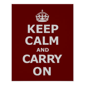 KEEP CALM AND CARRY ON 3 PRINT