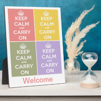 Keep Calm and Carry On 4 Panel Collage Photo Plaques