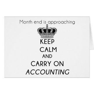 Keep Calm and Carry On Accounting Card