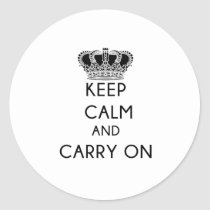 Keep Calm and Carry On Accounting Classic Round Sticker