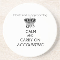 Keep Calm and Carry On Accounting Coaster