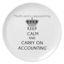 Keep Calm and Carry On Accounting Dinner Plate