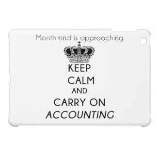 Keep Calm and Carry On Accounting iPad Mini Cases