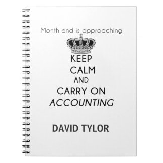 Keep Calm and Carry On Accounting Notebook