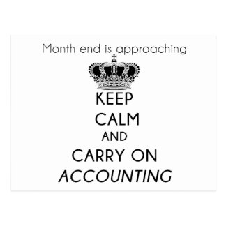 Keep Calm and Carry On Accounting Postcards
