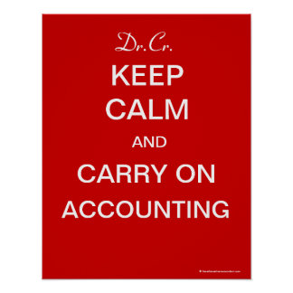 Keep Calm and Carry On Accounting -  Poster