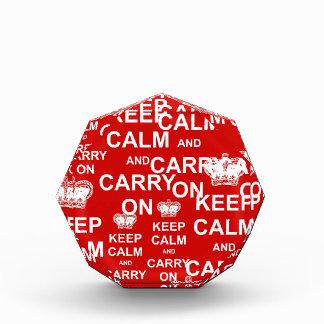 Keep Calm and Carry On Acrylic Award