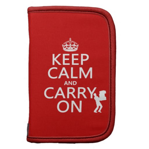 Keep Calm and Carry On (any background color) Organizers