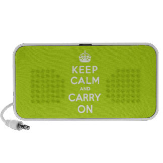 Keep Calm and Carry On Apple Green Speaker System