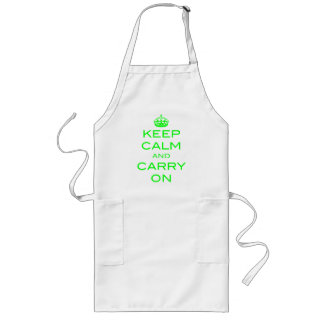 Keep Calm and Carry On Apron - Green