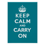 Keep Calm and Carry On_AQUA Posters