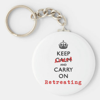 Keep Calm and Carry On Armed Retreating Basic Round Button Keychain