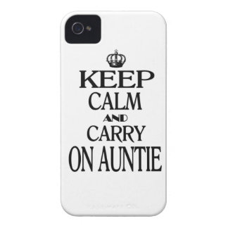 Keep Calm and Carry on Auntie Case-Mate iPhone 4 Case