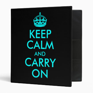 Keep Calm and Carry On Avery Binder