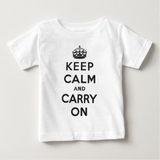 Keep Calm and Carry On Baby T-Shirt
