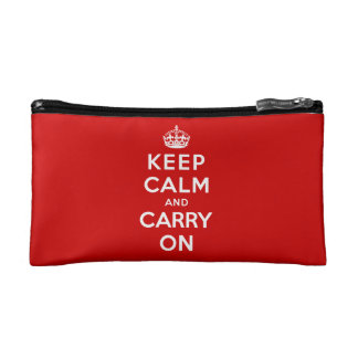 Keep Calm and Carry On Cosmetics Bags