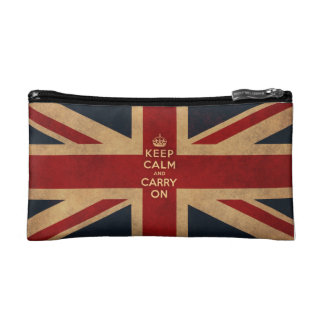 Keep calm and carry on makeup bags