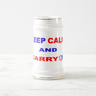 KEEP CALM AND CARRY ON BEER STEIN