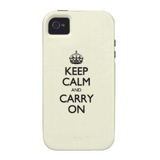 Keep Calm And Carry On - Beige, Cream Color iPhone 4/4S Covers