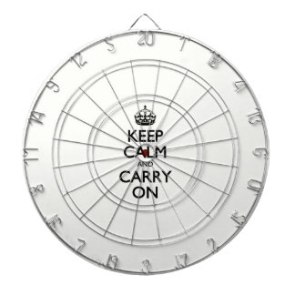 Keep Calm And Carry On - Beige, Cream Color Dart Boards