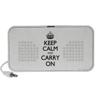 Keep Calm And Carry On - Beige, Cream Color Speaker System