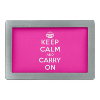 Keep Calm and Carry On Rectangular Belt Buckles