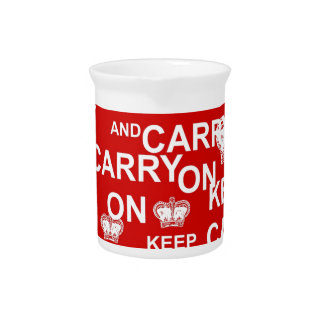 Keep Calm and Carry On Beverage Pitchers