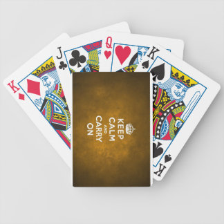 Keep Calm And Carry On Bicycle Playing Cards
